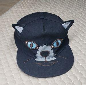 Tian Feng Black Cat Snapback Hat/Cap
